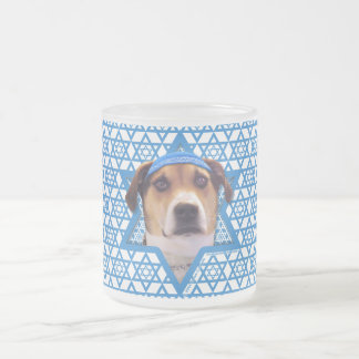 Hanukkah Star of David - Treeing Walker Coonhound Frosted Glass Coffee Mug