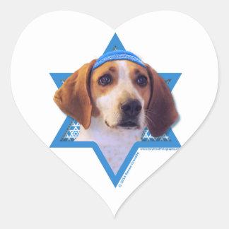 Hanukkah Star of David - Treeing Walker Coonhound Heart Sticker