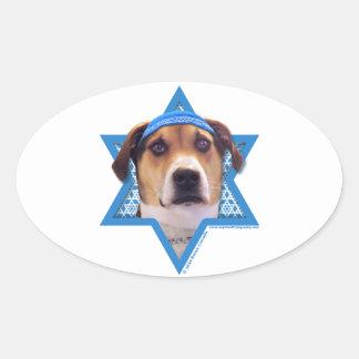 Hanukkah Star of David - Treeing Walker Coonhound Sticker