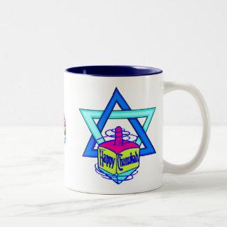 Hanukkah Star of David Two-Tone Coffee Mug