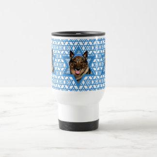 Hanukkah Star of David - Vallhund - Bear Travel Mug