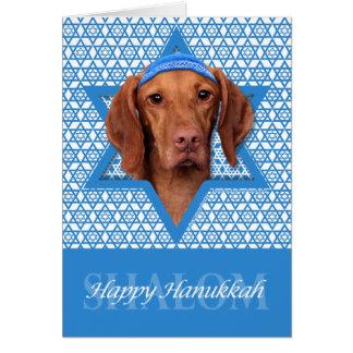 Hanukkah Star of David - Vizsla - Reagan Stationery Note Card