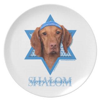 Hanukkah Star of David - Vizsla - Reagan Dinner Plate