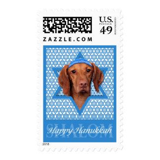 Hanukkah Star of David - Vizsla - Reagan Postage Stamp