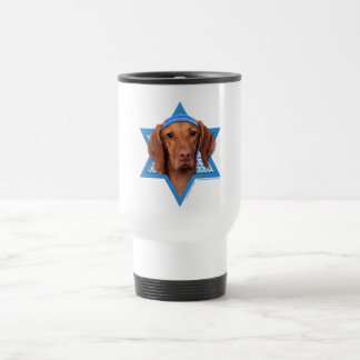 Hanukkah Star of David - Vizsla - Reagan Travel Mug