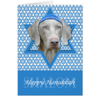Hanukkah Star of David - Weimaraner Card