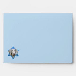 Hanukkah Star of David - Weimaraner Envelopes
