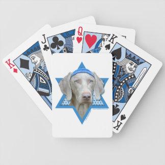 Hanukkah Star of David - Weimaraner Card Deck