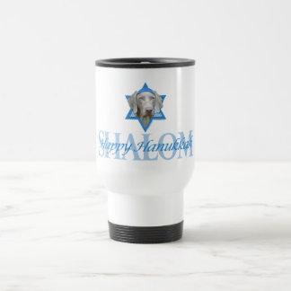 Hanukkah Star of David - Weimaraner Travel Mug
