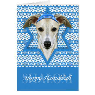 Hanukkah Star of David - Whippet Stationery Note Card