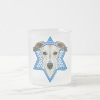 Hanukkah Star of David - Whippet Frosted Glass Coffee Mug
