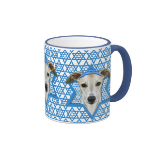 Hanukkah Star of David - Whippet Ringer Coffee Mug