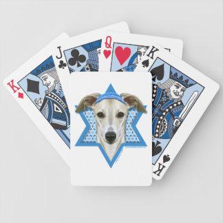 Hanukkah Star of David - Whippet Bicycle Poker Cards