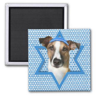 Hanukkah Star of David - Whollie - Coney 2 Inch Square Magnet