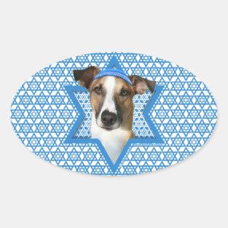 Hanukkah Star of David - Whollie - Coney Oval Sticker