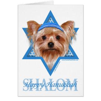 Hanukkah Star of David - Yorkshire Terrier Greeting Cards