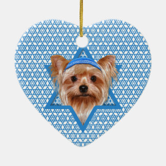 Hanukkah Star of David - Yorkshire Terrier Ceramic Ornament