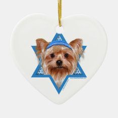 Hanukkah Star Of David - Yorkshire Terrier Ceramic Ornament at Zazzle
