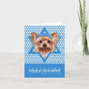 Hanukkah Star of David - Yorkshire Terrier Holiday Card