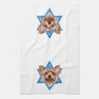 Hanukkah Star of David - Yorkshire Terrier Kitchen Towels