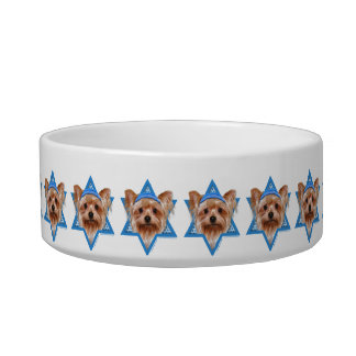 Hanukkah Star of David - Yorkshire Terrier Pet Bowl