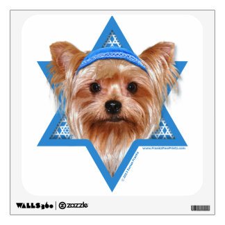 Hanukkah Star of David - Yorkshire Terrier Wall Sticker
