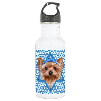 Hanukkah Star of David - Yorkshire Terrier Water Bottle