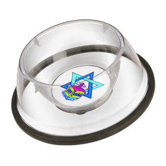 Hanukkah Star of David Pet Bowl