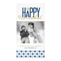 Hanukkah Stars Of David Modern Photo Greetings Card