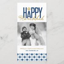 Hanukkah Stars Of David Modern Photo Greetings Holiday Card