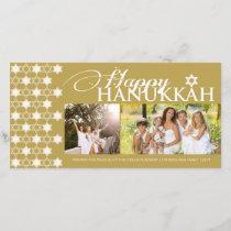 Hanukkah Stars Of David Pattern Modern Greetings Holiday Card