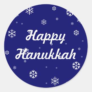 Hanukkah Round Sticker