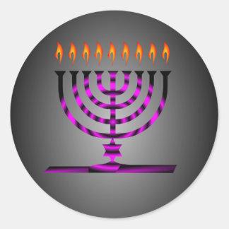 Hanukkah Classic Round Sticker