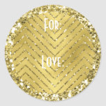 """Hanukkah Stickers (1 1/2&quot; or 3&quot;) &quot;Chevron Gold&quot;<br><div class=""""desc"""">Hanukkah/Holiday stickers, &quot;Chevron Gold.&quot; Personalize by changing font size, style, color and wording. So many uses: To and From gift stickers, Thank You stickers on treat bags, Cake Toppers (stick on heavy cardstock, cut out sticker, then tape toothpick on back of cardstock), or how about Gift Tags (stick on heavy...</div>"""