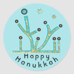 """Hanukkah Stickers &quot;Blue Lights Latkes Chanukah&quot;<br><div class=""""desc"""">Hanukkah Holiday stickers, &quot;Blue Lights, Latkes, Chanukah/Hanukkah&quot; Anyway I spell it, Chanukah is one of my favorite holidays. Have fun using these stickers as cake toppers, gift tags, favor bag closures, or whatever rocks your festivities! Personalize by deleting, &quot;Happy Hanukah&quot; and adding your own text using your favorite font style,...</div>"""
