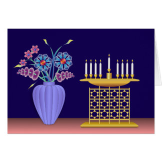 """Hanukkah"" The Festival of Light & Flowers Card"