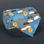 "Hanukkah Tie with Menorah and Candles<br><div class=""desc"">Hanukkah Tie with Menorah and Candles</div>"