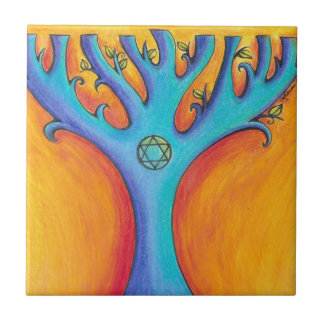 Hanukkah Tree 2 Tile Trivet