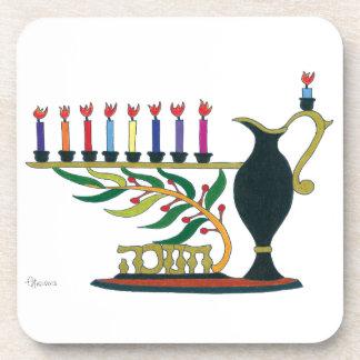 Hanukkah Vase Beverage Coaster
