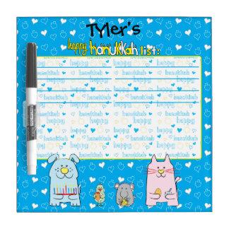 "Hanukkah Wish List ""Pets"" Dry Erase Board"