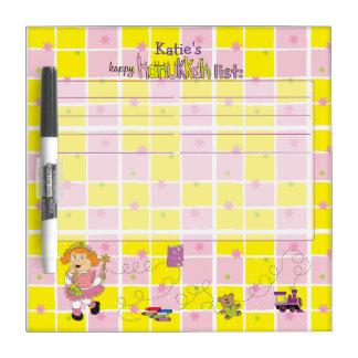 "Hanukkah Wish List ""Princess"" Dry Erase Board"