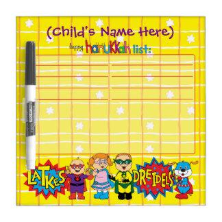 "Hanukkah Wish List ""SuperHeroes"" Dry Erase Board"