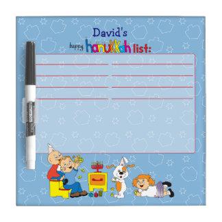 """Hanukkah Wish List """"Zeevie's Friends"""" Erase Board"""