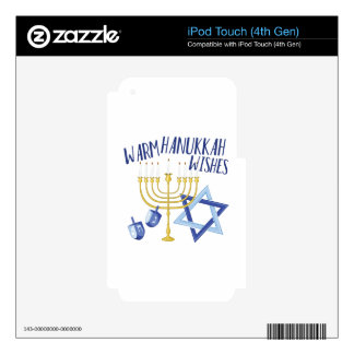 Hanukkah Wishes Decal For iPod Touch 4G