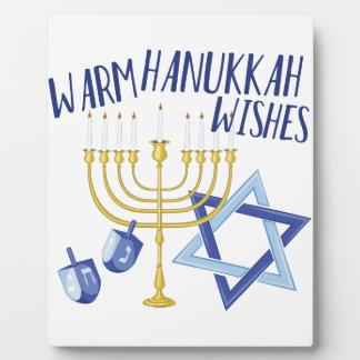 Hanukkah Wishes Plaque
