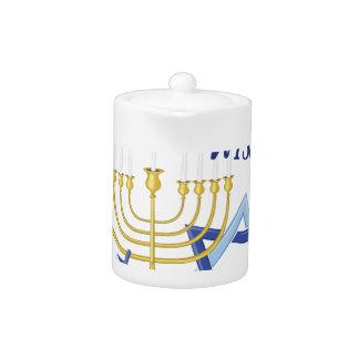 Hanukkah Wishes Teapot