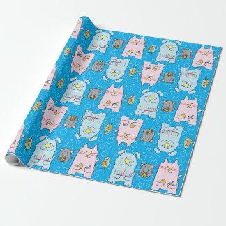 "Hanukkah Wrapping Paper ""Dog Cat Bird Mouse"""