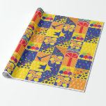 """Hanukkah Wrapping Paper """"Hanukkah Squares""""<br><div class=""""desc"""">""""Hanukkah Squares"""" wrapping paper. Price varies as you choose between 4 paper types and 5 paper sizes. Thanks for stopping and shopping by. Your business is greatly appreciated. Enjoy! Chag Chanukah/Hanukkah!!!</div>"""