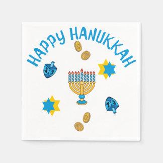 Hanukkuh Symbols Paper Napkin