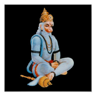 HANUMAN - ANJANEYA - HINDU - BUDDHAISM POSTER